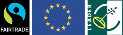 Faitrade Logo, European Union Logo and Leader logo